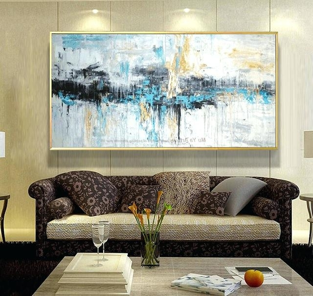 Trendy Giant Abstract Wall Art Throughout Big Wall Art Decor Abstract Art Painting Modern Wall Art Canvas (View 11 of 15)