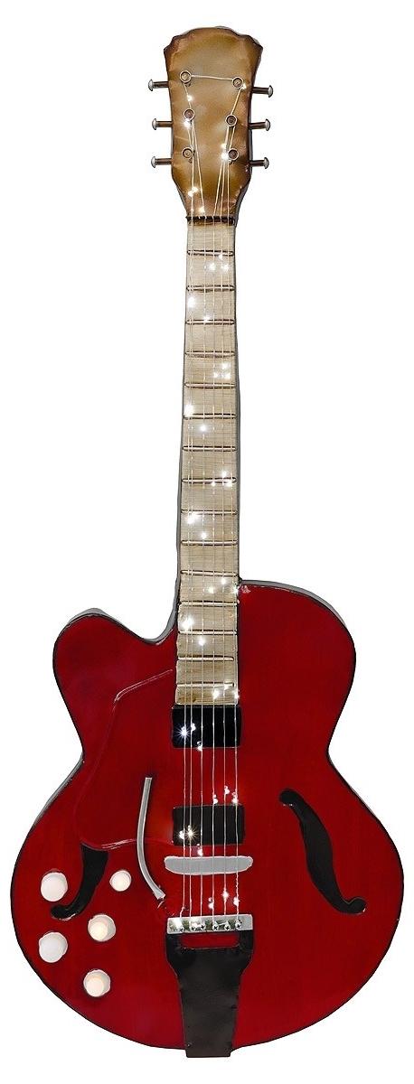 Trendy Guitar Metal Wall Art In Red Guitar 3D Metal Wall Art – Be Fabulous! (View 9 of 15)