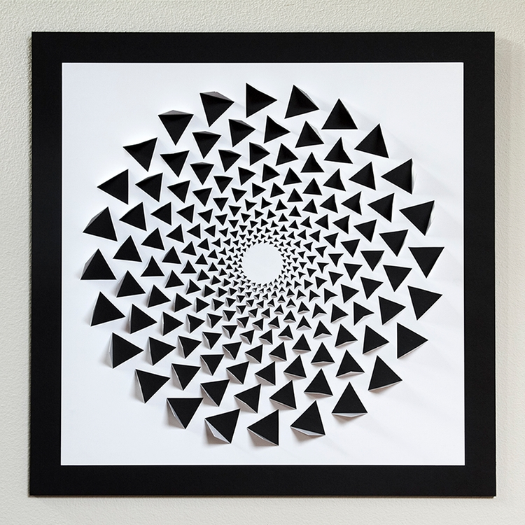 Trendy Illusion Wall Art Throughout A Mind Bending 3D Optical Illusion Wall Art Made Using One Sheet Of (View 15 of 15)