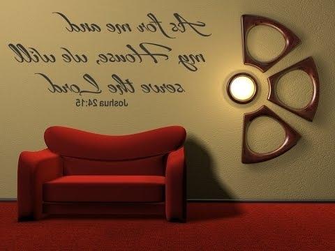 Trendy Inspirational Wall Art – Inspirational Bible Verses Wall Art – Youtube Throughout Bible Verses Wall Art (View 2 of 15)