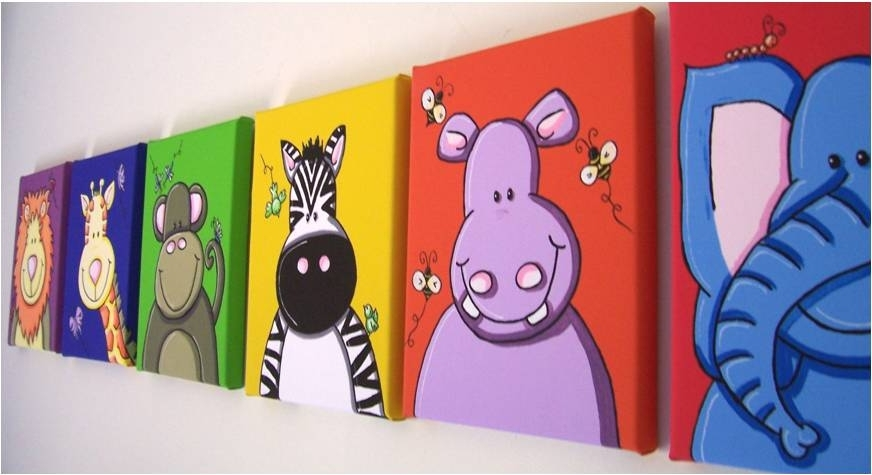 Trendy Kids Canvas Wall Art Within Sensational Design Ideas Kids Canvas Wall Art Home Remodel Childrens (View 14 of 15)