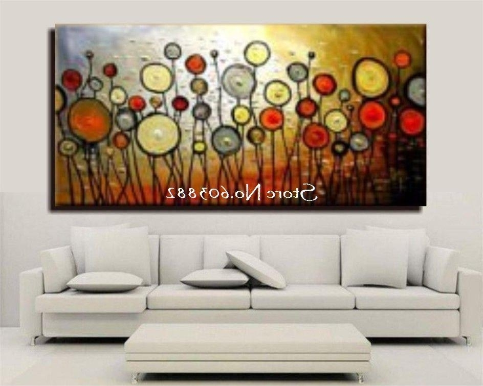 Trendy Large Inexpensive Wall Art Intended For Discount Handmade Large Canvas Wall Art Abstract Painting Within (View 2 of 15)