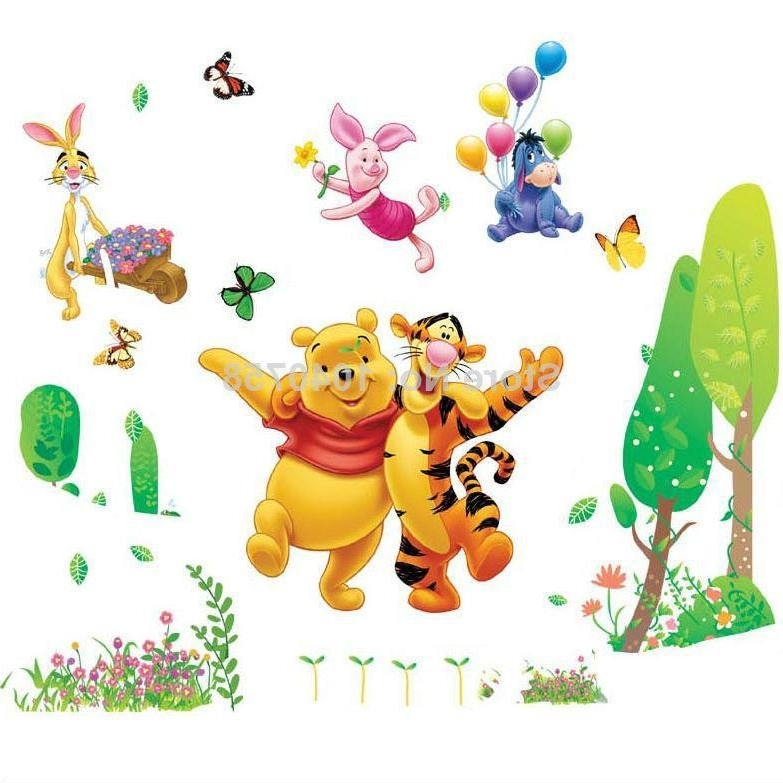 Trendy Large Removable Pvc Cartoon Winnie The Pooh Wall Stickers For Kids Within Winnie The Pooh Wall Art (View 15 of 15)