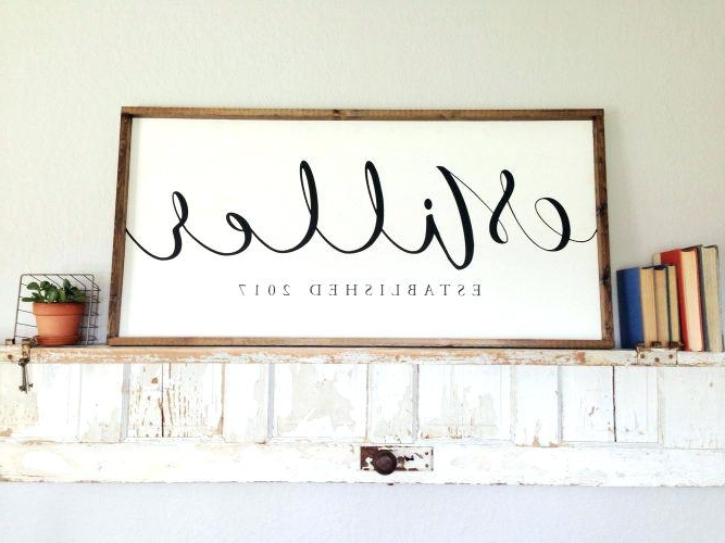 Trendy Last Name Framed Wall Art In Sofa Ideas (View 12 of 15)
