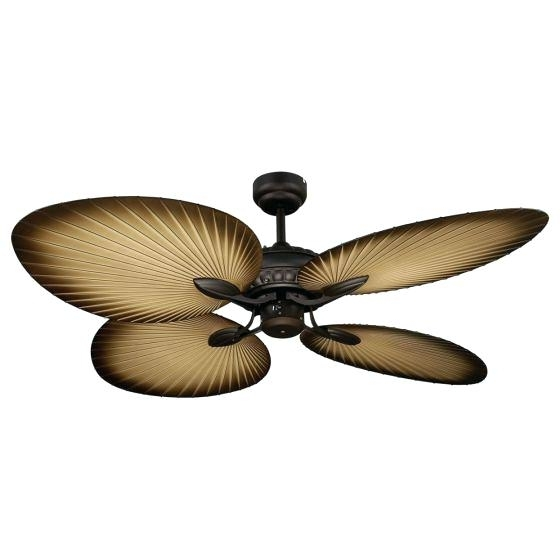 Trendy Leaf Blades Outdoor Ceiling Fans For Palm Ceiling Fan Popular Outdoor Blades For Tropical Fans The Touch (View 10 of 15)