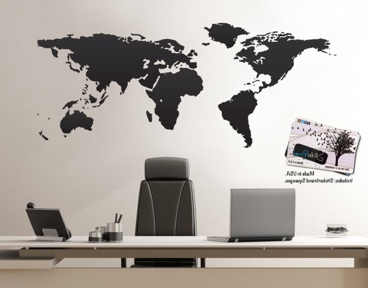 Trendy Maps For Wall Art Pertaining To 37 Eye Catching World Map Posters You Should Hang On Your Walls (View 14 of 15)
