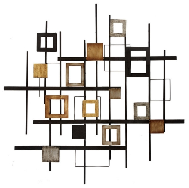 Trendy Metal Abstract Wall Art - Contemporary - Metal Wall Art -Propac intended for Houzz Abstract Wall Art