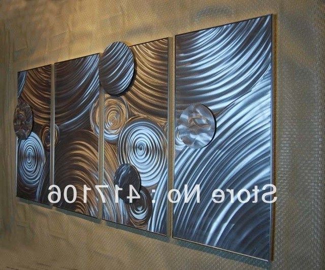 "Trendy Metal Abstract Wall Art With Regard To 64"" Modern Metal Abstract Wall Art Metal Sculpture Original (View 15 of 15)"
