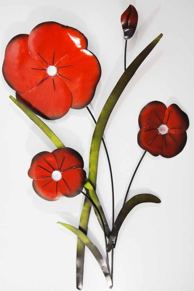 Trendy Metal Wall Art Red Poppy Flower Head Artwork And Every Other In Metal Poppy Wall Art (View 13 of 15)