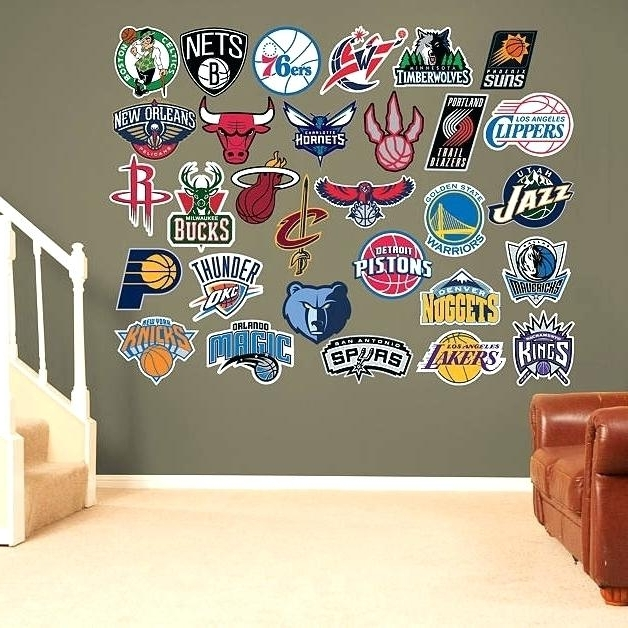 Trendy Nba Wall Decals Logo Collection Wall Decals And Logos Wall Murals Inside Nba Wall Murals (View 12 of 15)