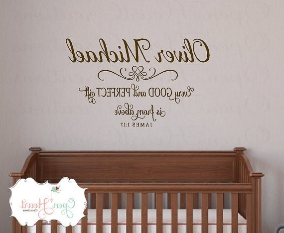 Trendy Nursery Bible Verses Wall Decals Throughout Scripture Wall Decals For Nursery ~ Thenurseries, Bible Verse Wall (View 12 of 15)