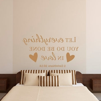 Trendy Nursery Bible Verses Wall Decals With Wall Decal: Bible Verses Wall Decals Inspiration Bible Verse Wall (View 13 of 15)