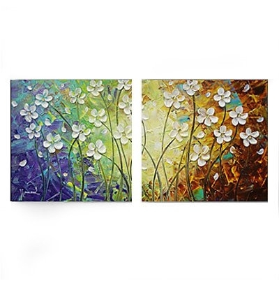 Trendy Oil Painting Wall Art On Canvas For Amazon: Amoy Art  Hand Painted Modern Canvas Wall Art Floral Oil (View 13 of 15)