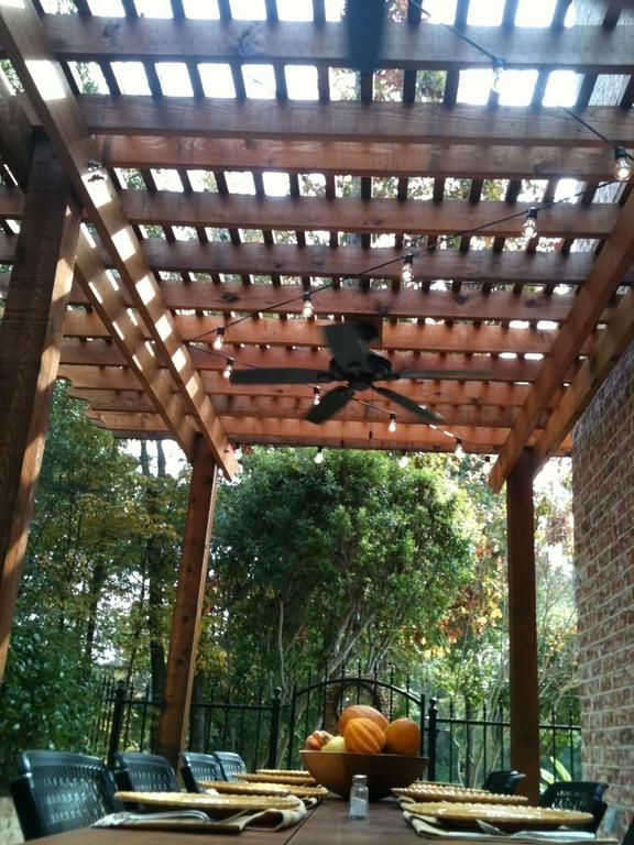 Trendy Outdoor Ceiling Fans Under Pergola Regarding Pergola And Fan Over Part Of Dock? Www (View 7 of 15)