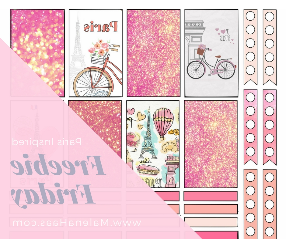 Trendy Paris Themed Stickers In Malena Haas: ❤Freebie Friday❤ Paris Themed Planner Stickers (View 12 of 15)