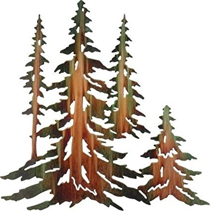 Featured Photo of Pine Tree Metal Wall Art