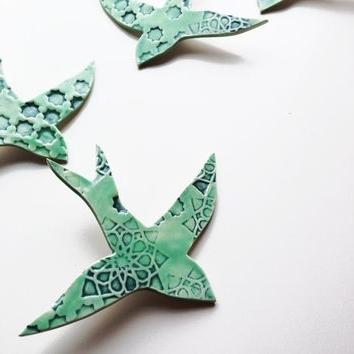 Trendy Princedesignuk On Etsy On Wanelo Within Ceramic Bird Wall Art (View 12 of 15)