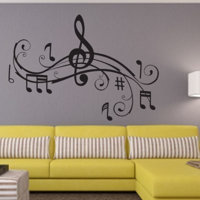 Trendy Rock Your Walls With Music Wall Decalseydecals With Regard To Music Note Art For Walls (View 14 of 15)