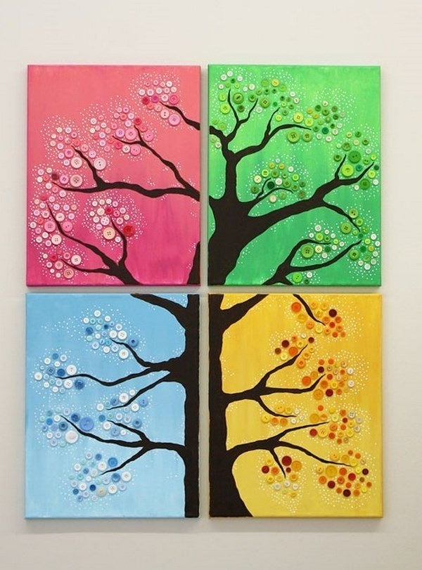 Trendy Seasonal Wall Art Ideas 4 Season Button Tree Diy Craft Ideas Home Throughout Seasonal Wall Art (View 5 of 15)