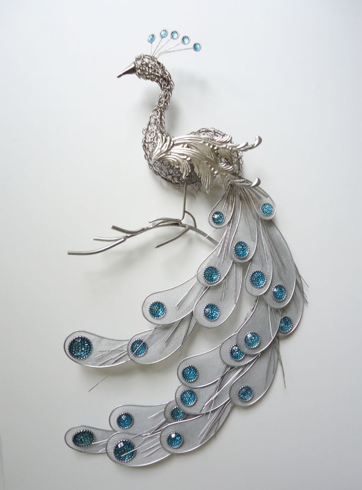 Trendy Simple Peacock Metal Wall Art : Andrews Living Arts – How To Mount Pertaining To Peacock Metal Wall Art (View 13 of 15)