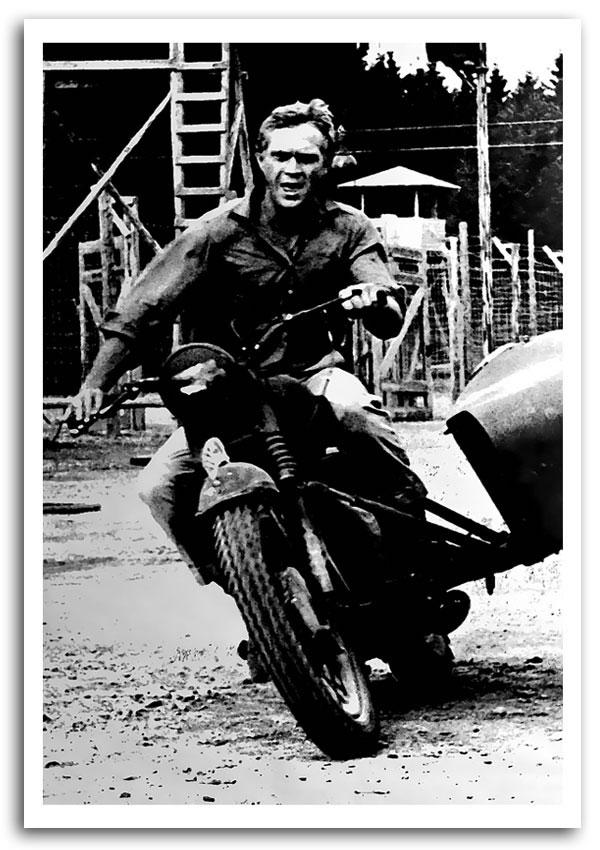 Trendy Steve Mcqueen Motorbike People Framed Art Giclee Art Print Pertaining To Steve Mcqueen Wall Art (View 5 of 15)
