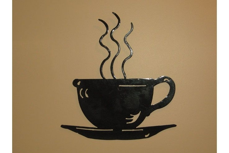 """Trendy This 18"""" X 20"""" Steaming Coffee Cup Wall Art Is Both Beautiful And With Regard To Metal Coffee Cup Wall Art (View 4 of 15)"""