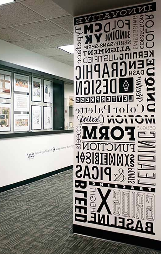Trendy Typography Wall Art: 30 Awesome Examples – Jayce O Yesta Pertaining To Graphic Design Wall Art (View 8 of 15)