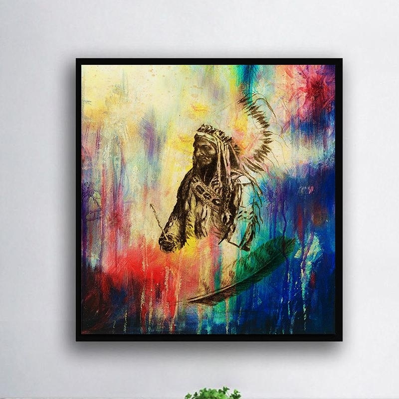 Trendy Unframed Modern Abstract Oil Painting Native American Huge Wall Throughout Modern Abstract Huge Oil Painting Wall Art (View 11 of 15)