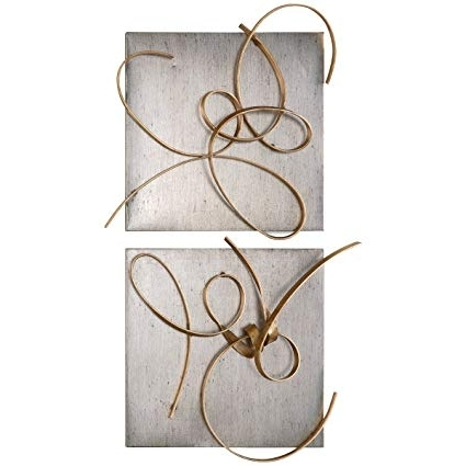 Trendy Uttermost Metal Wall Art For Amazon: Uttermost 7071 Harmony Metal Wall Art (Set Of 2): Home (View 6 of 15)