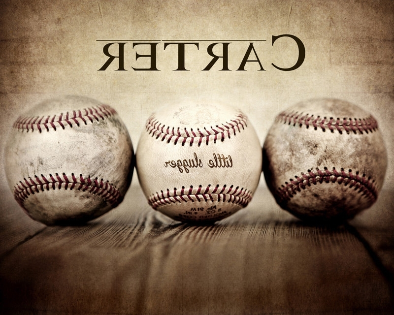 Trendy Vintage Baseball Wall Art Pertaining To Baseball Wall Art Prints – Chatta Artprints (View 9 of 15)