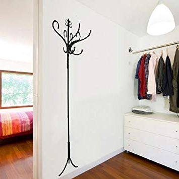 Trendy Wall Art Coat Hooks Regarding Walplus Real Coat Hooks Wall Art Decals Home Decoration Diy Living (View 5 of 15)