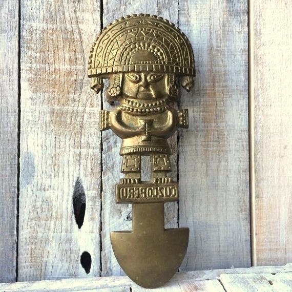 Trendy Wall Art Ideas Design : Metal Brass Copper Peruvian Wall Art Gold Regarding Peruvian Wall Art (View 5 of 15)