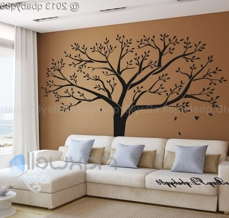 Trendy Wall Decoration Family Tree Vinyl Wall Decal Home Design And Wall Within Vinyl Wall Art Tree (View 9 of 15)