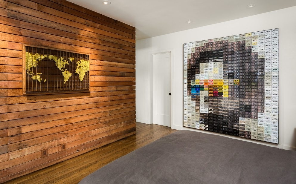 Trendy Wood Panel Wall Art Within Wood Panel Wall Decor Industrial Wall Art Ideas Bedroom Contemporary (View 6 of 15)