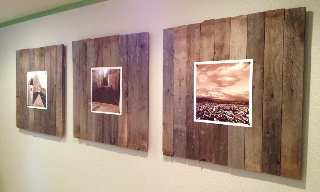 Trendy Wood Wall Art Panels With Reclaimed Wood Wall Art Panels « Our Wee Home (View 7 of 15)