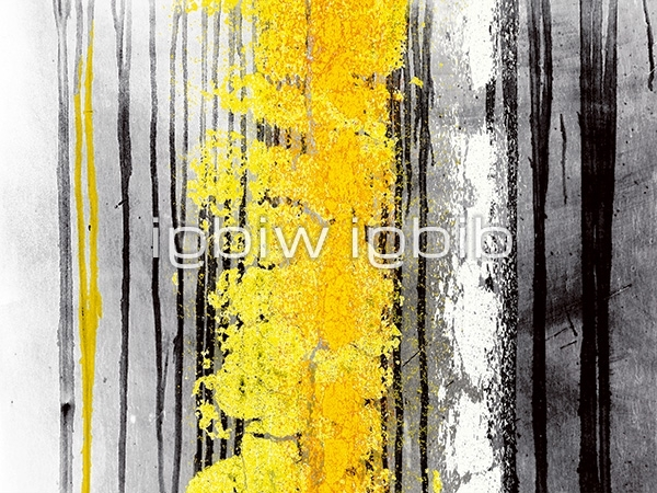 "Trendy Yellow And Grey Abstract Wall Art In Black, White, Yellow And Grey Abstract Canvas Wall Art Print – ""i (View 7 of 15)"