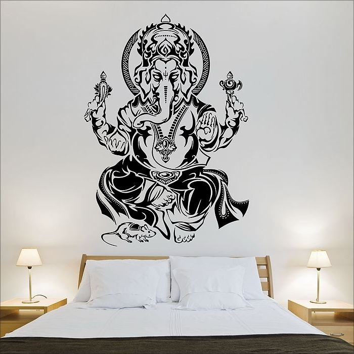 Tribal Ganesh Hindo God Vinyl Wall Art Decal Intended For Well Liked Ganesh Wall Art (View 14 of 15)