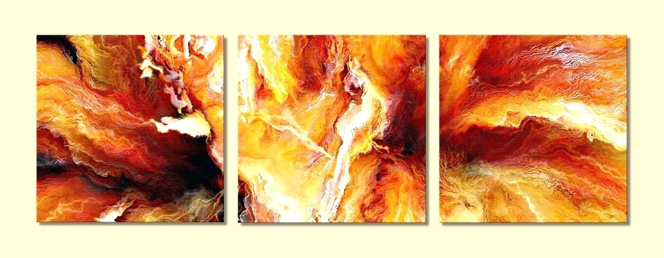 Triptych Art For Sale Pertaining To Trendy Abstract Art For Sale Panel Painting Panels Passion Large Triptych (View 4 of 15)