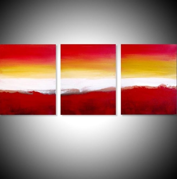 """Triptych Art For Sale Regarding Well Liked Colour Slats"""" Abstract Artists Triptych Art On Canvas (View 2 of 15)"""