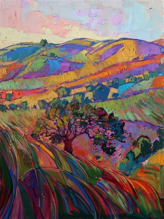 Triptych Art For Sale Within Fashionable Morning Fields In Triptych – Erin Hanson Prints – Buy Contemporary (View 11 of 15)