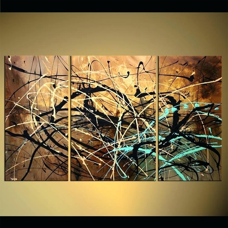 Triptych Wall Art Modern Abstract Artwork Garden Wall Art Ideas With Regard To Recent Abstract Garden Wall Art (View 14 of 15)