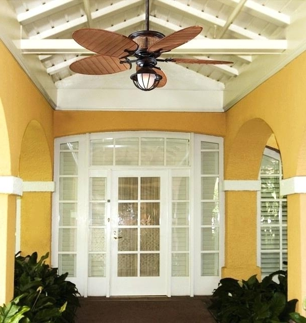 Tropical Ceiling Fans Best Outdoor Ceiling Fans With Unique Designs Intended For Most Recent Tropical Design Outdoor Ceiling Fans (View 13 of 15)