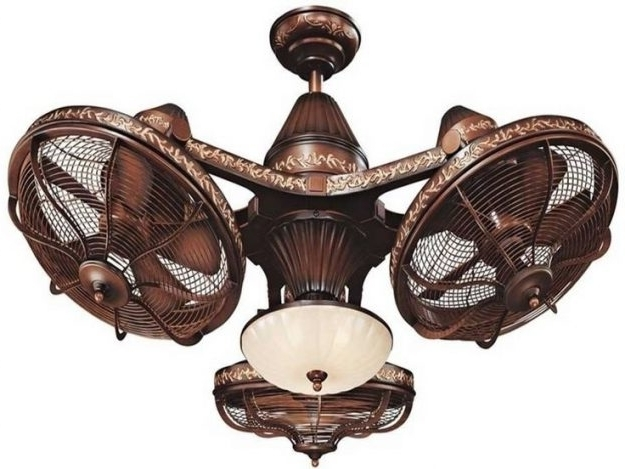 Tropical Outdoor Ceiling Fans With Lights With Regard To Most Current Extraordinary Flush Mount Tropical Ceiling Fans Hunter Tropical (View 10 of 15)