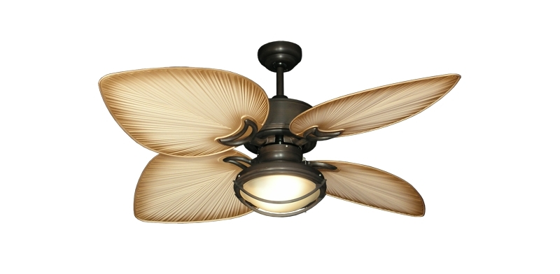 Tropical Style Patio Design With Outdoor Light Ceiling Fans In India In Most Recently Released Outdoor Ceiling Fans With Palm Blades (View 6 of 15)