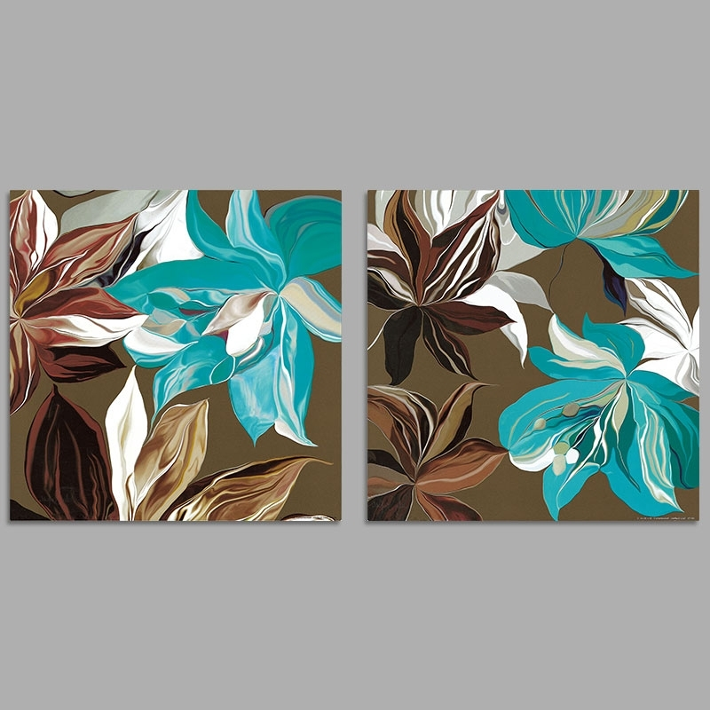 Turquoise And Brown Wall Art Inside Best And Newest Turquoise And Brown Wall Art ~ Bradpike (View 6 of 15)