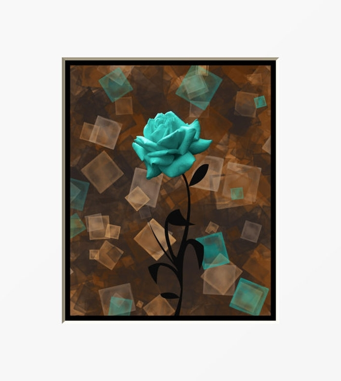 Turquoise And Brown Wall Art Pertaining To Current  (View 3 of 15)