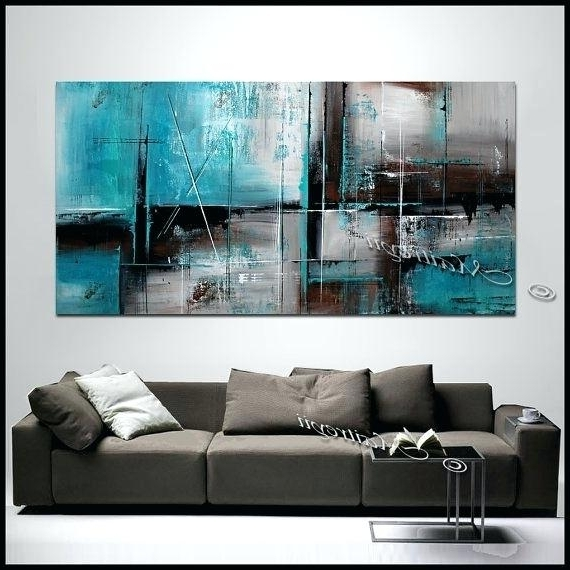 Turquoise And Brown Wall Art Vibrant Ideas Teal Wall Decor Within Most Up To Date Turquoise And Brown Wall Art (View 8 of 15)