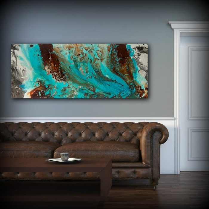 Turquoise And Brown Wall Art Within Newest  (View 15 of 15)