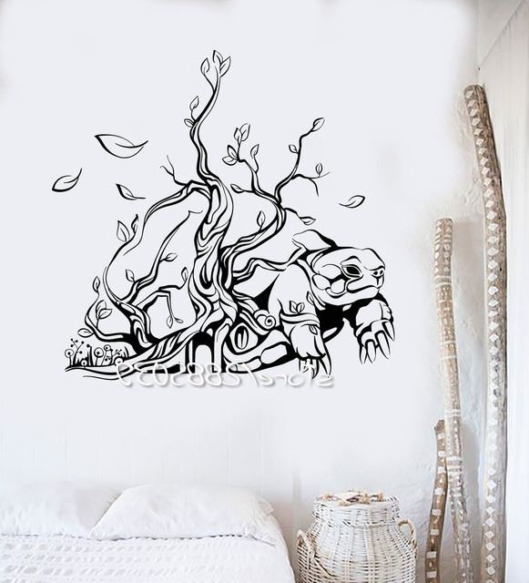 Turtle Tree House Interior Wall Stickers Abstract Art Vinyl Wall For Trendy Abstract Art Wall Decal (View 13 of 15)