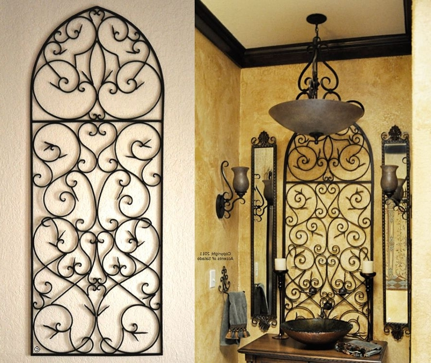 Tuscan Wrought Iron Wall Art Regarding Most Recent Tuscan Iron Wall Decor – Love The Tuscan Decor Bathroom! (View 4 of 15)